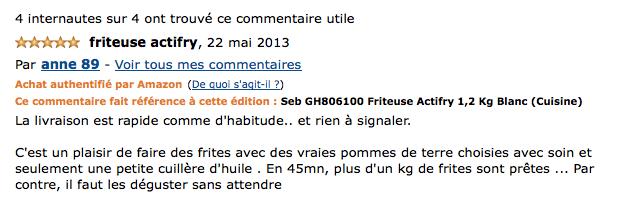 Avis et prix Friteuse Actifry Seb 1,2 kg GH806100