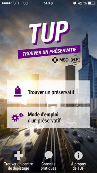 TUP : l'application gratuite qui vous aide à trouver un préservatif