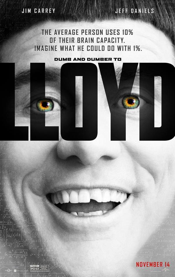 Quand Jim Carrey détourne l'affiche de Lucy...Dumb&amp&#x3B;dumber