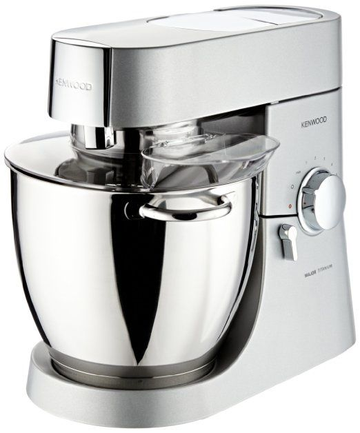 Offre éclair : Kenwood Robot Ménager Major Titanium - 1500W - 6.7 L - Inox Satiné + Blender AT358