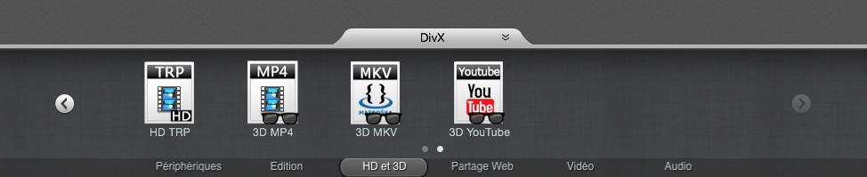 De nombreux formats et paramétrages sont disponibles.
