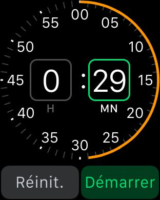 Comment lancer le minuteur sur l'Apple Watch ?