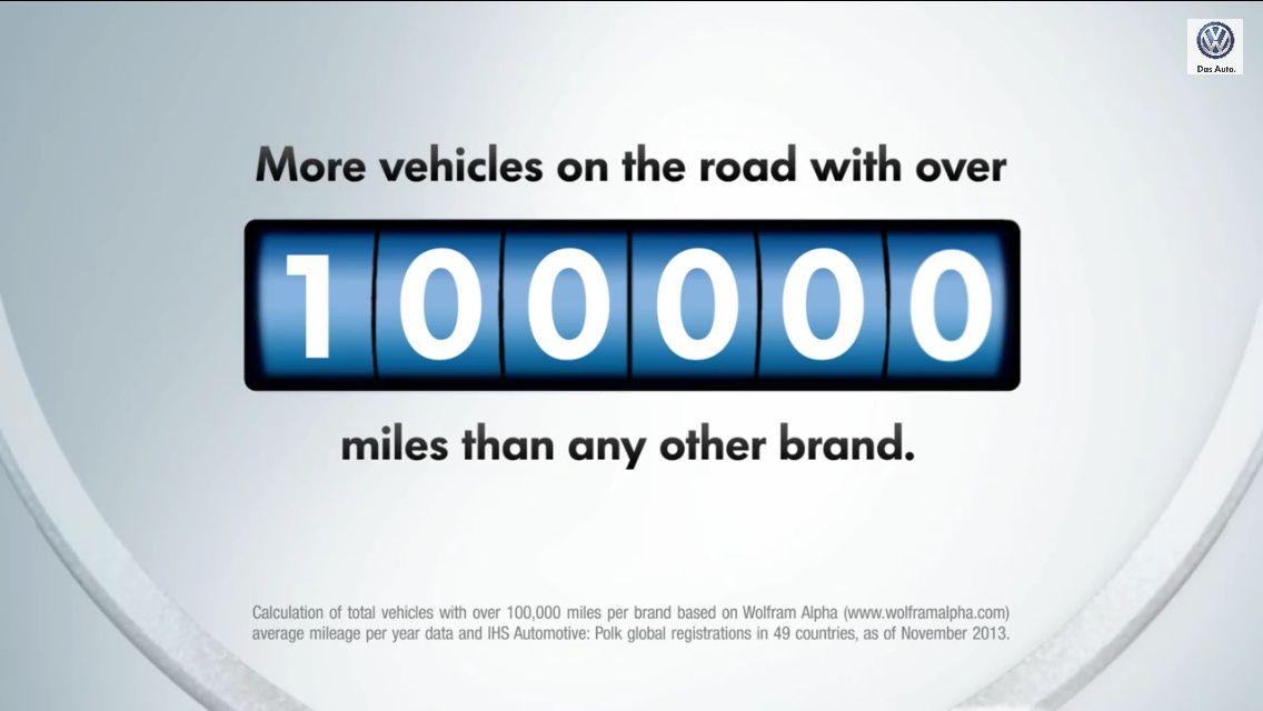 A chaque fois qu'une Volkswagen dépasse 100000 miles, un ingénieur allemand se voit pousser des ailes : la preuve
