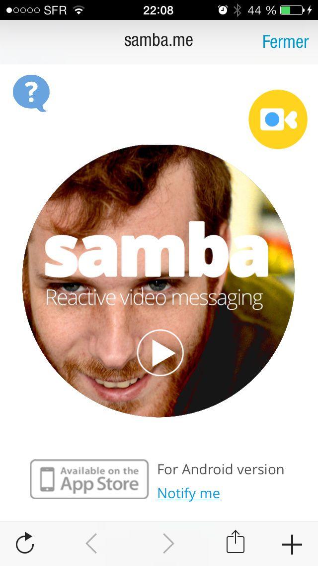 Samba, l'application qui photographie la réaction de vos interlocuteurs quand ils visionnent vos vidéos