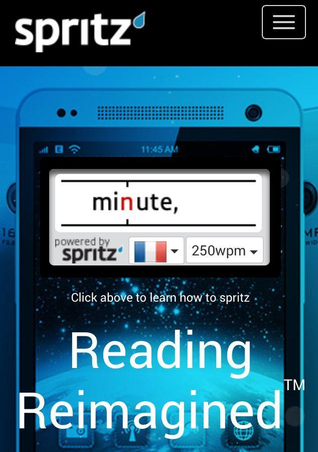 Spritz : lisez jusqu'à 600 mots par minute (technologie)
