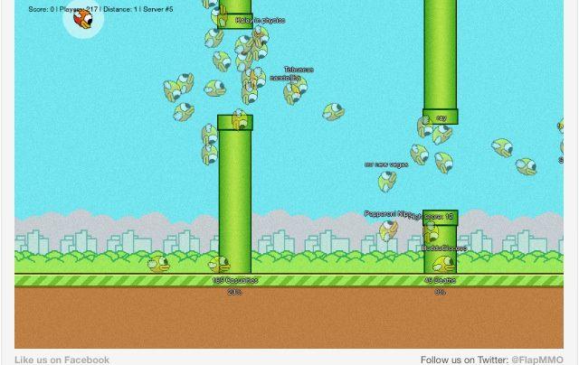 Vous voulez jouer à Flappy Bird en multi-joueurs? C'est par ici. #flapmmo