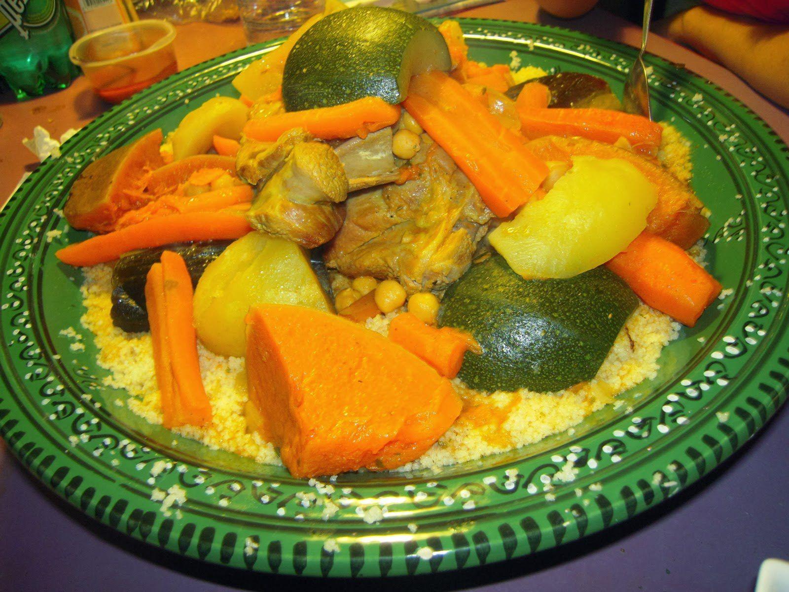 Mon recette couscous marocain aux legumes couscous viande