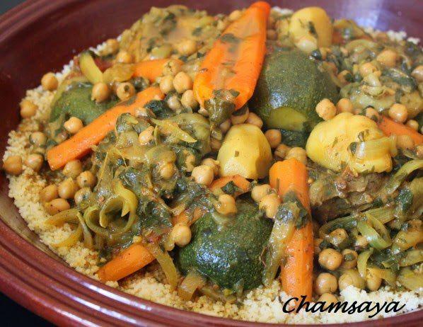 Couscous poulet, agneau et légumes