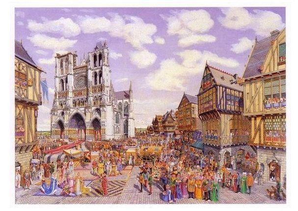 …et l'après-midi, on visite Amiens et sa cathédrale, joliment  illustré ici par Jean Maerten