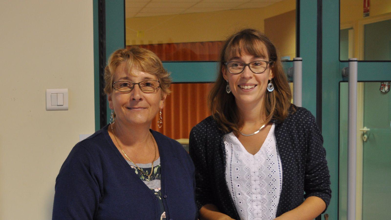 Martine (Atsem) et Pauline pour les maternelles (PS et MS)