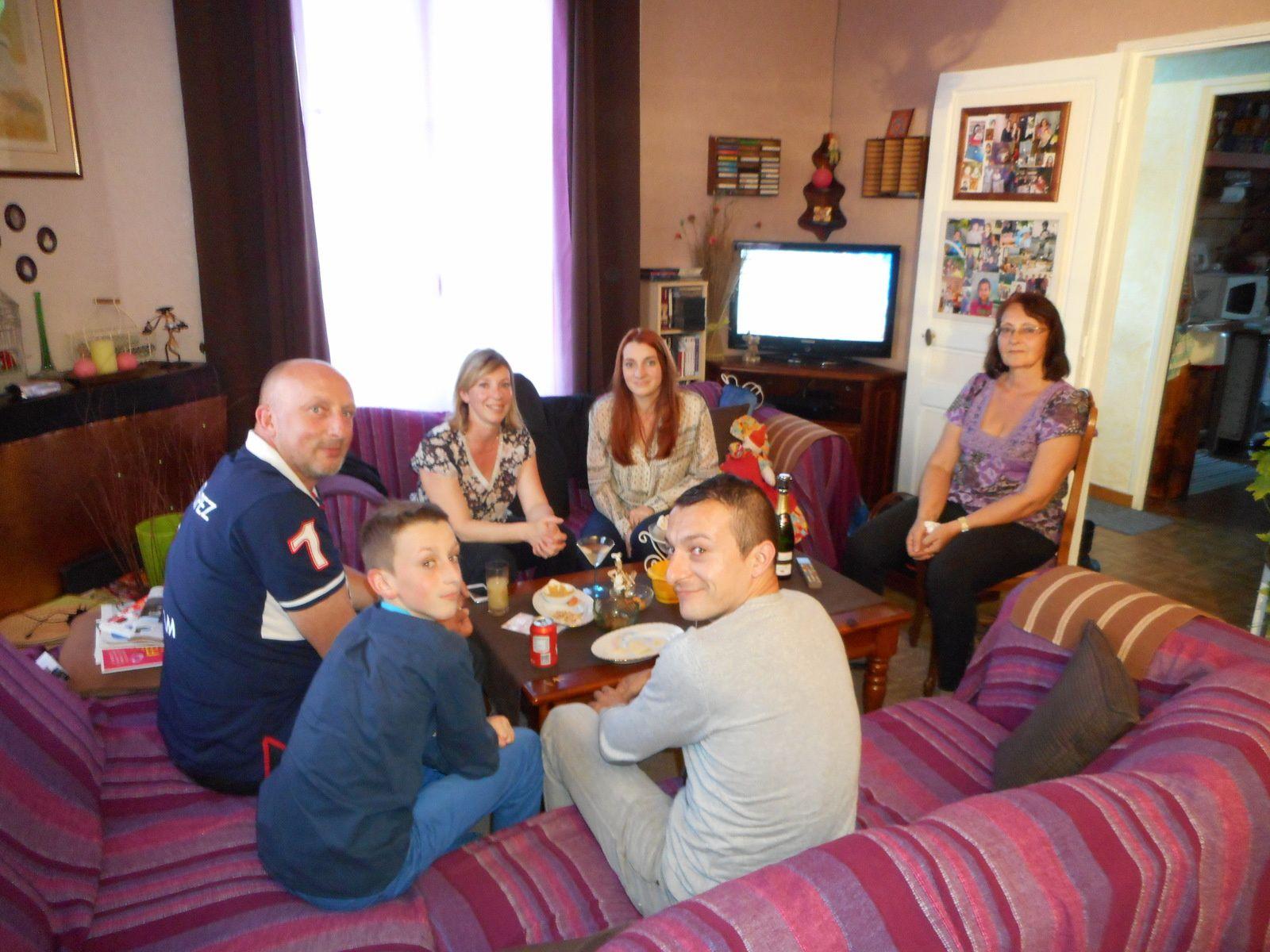 Carole, Jean-Marc, son conjoint. Laura & Gaël, leurs enfants.