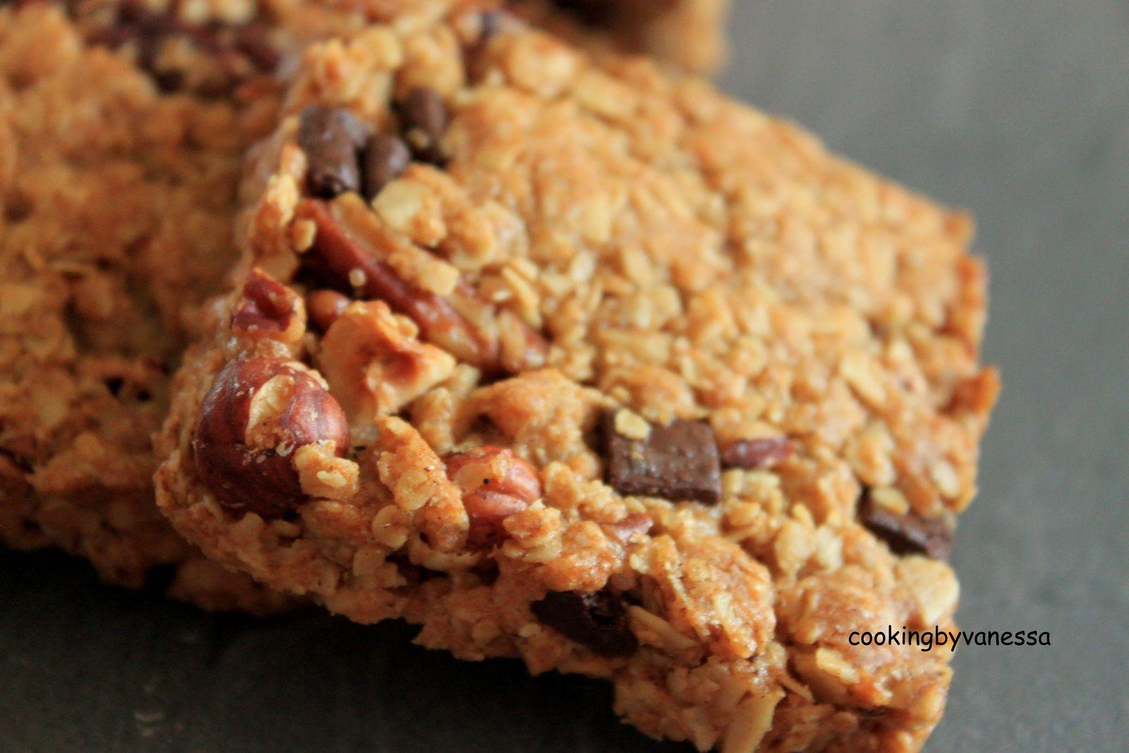 Barres de céréales (noix pécan,noisettes,chocolat)