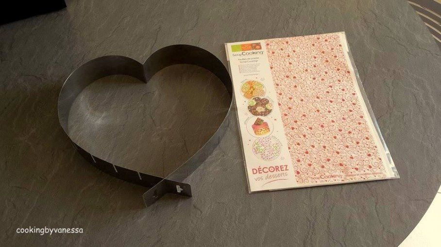 J'ai testé pour vous..… Le moule à pâtisserie en forme de Cœur et la feuille de papier à imprimer ScrapCooking