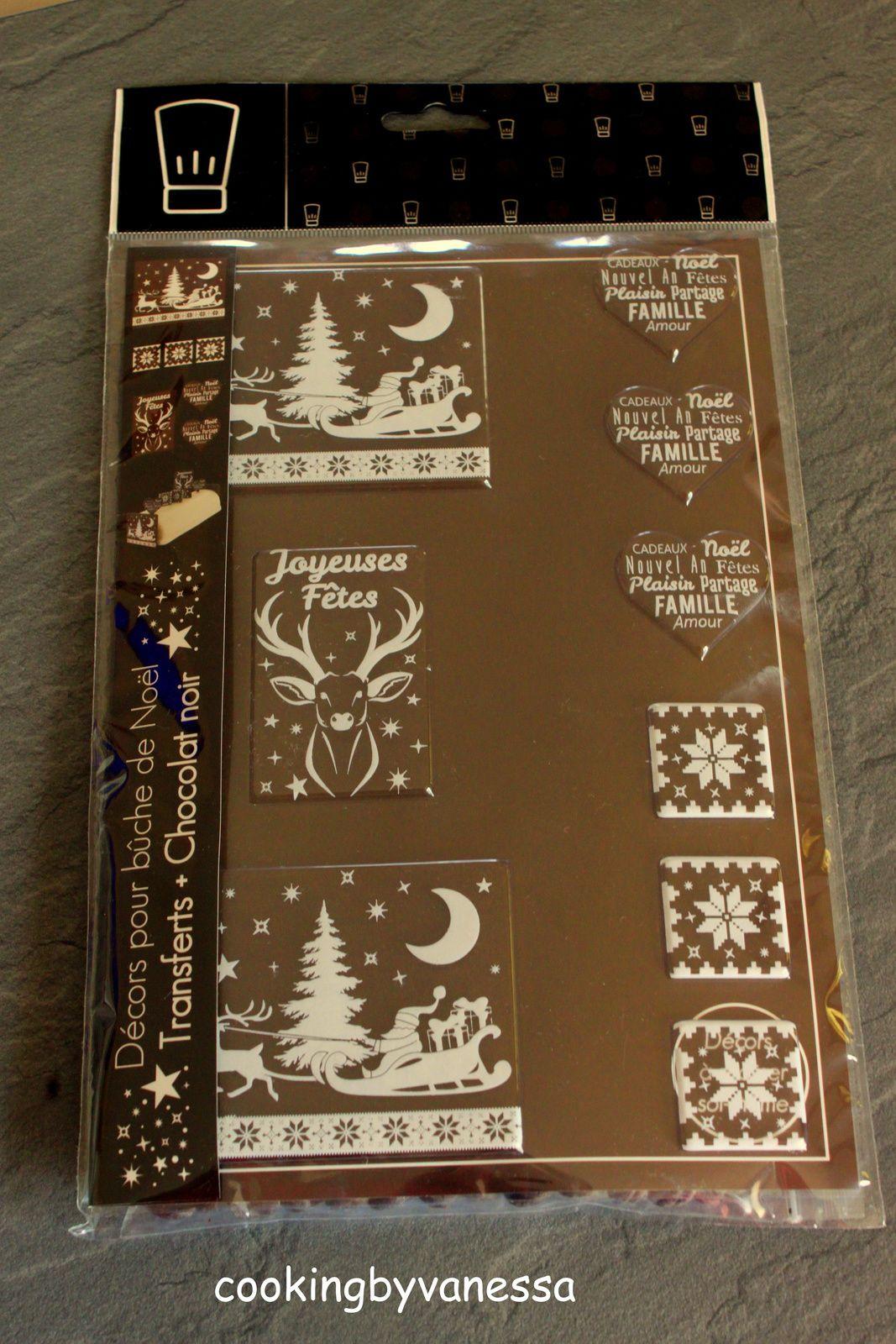 J'ai testé pour vous... le kit décor bûche chocolat de chez Patisdécor