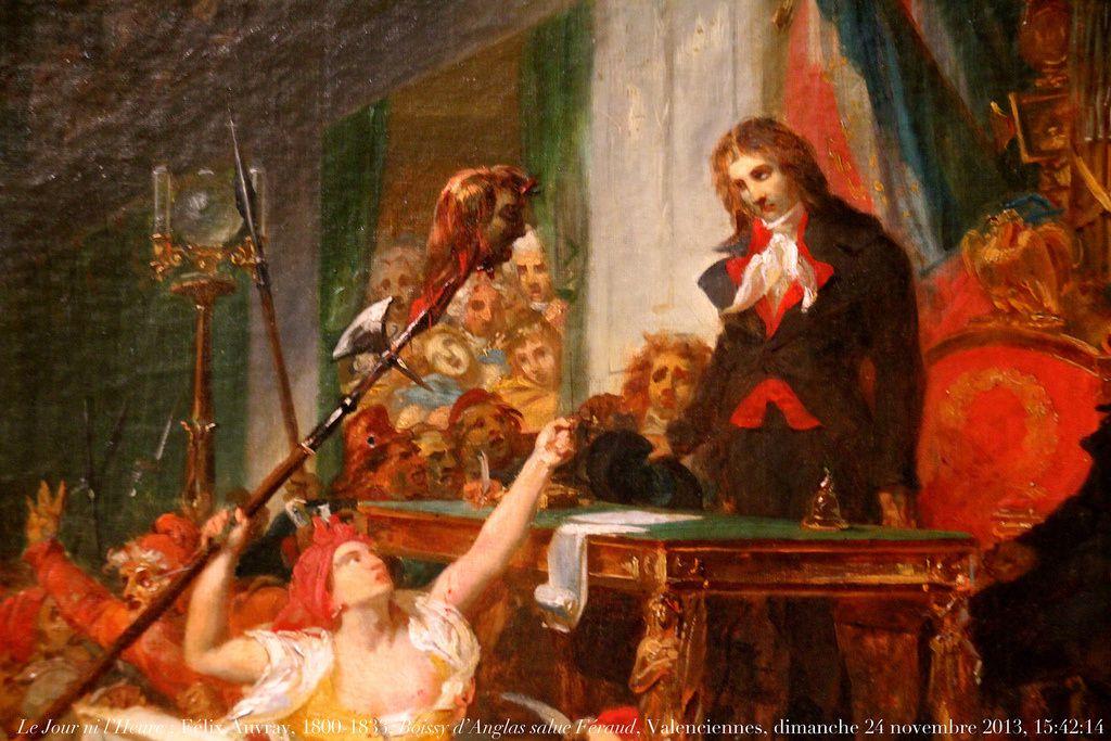 Le président de la Convention, Boissy d'Anglas, s'incline devant la tête de Féraud qui lui est présentée par les émeutiers