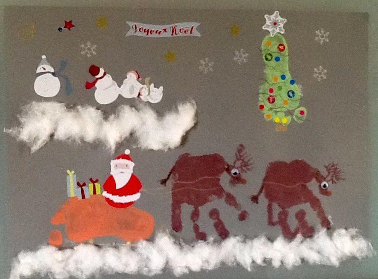 Tableau de Noël collectif ���