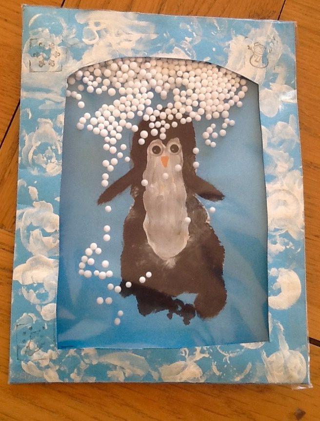 Petit pingouin d'hiver ❄️�