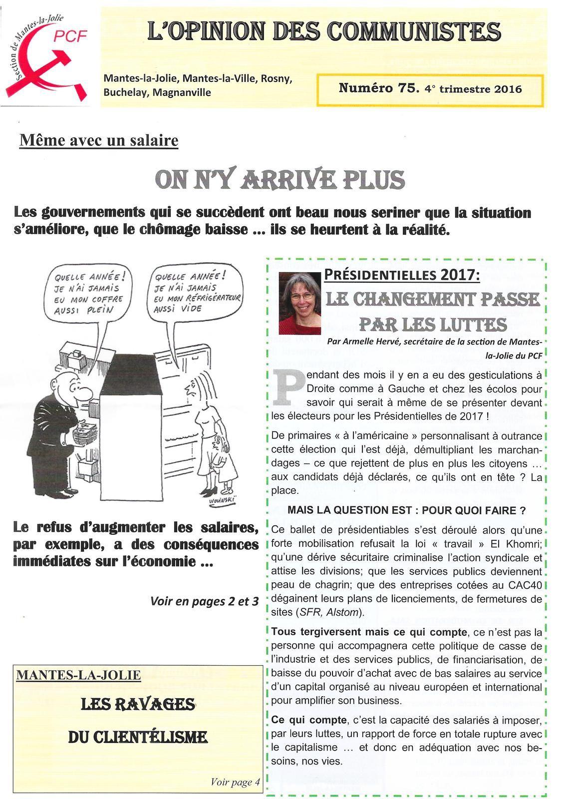 Rencontres avec les communistes de Mantes-la-Jolie
