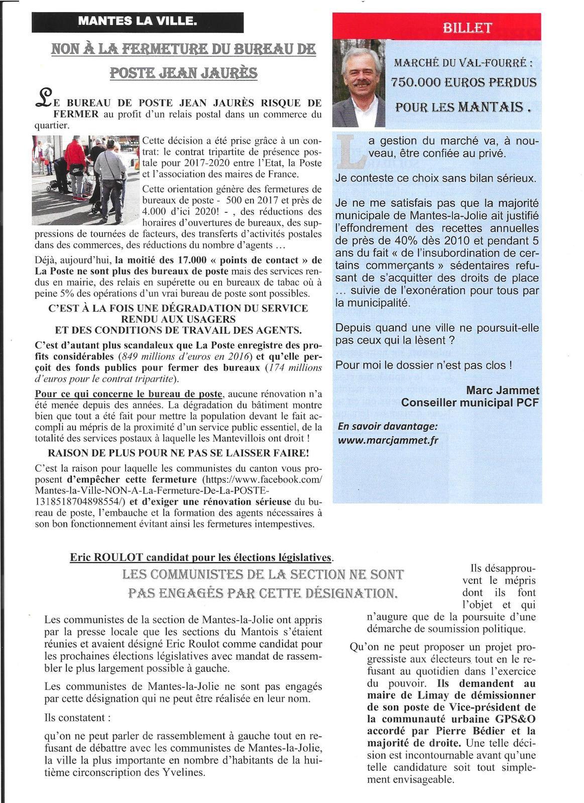 Mantes-la-Jolie. L'OPINION DES COMMUNISTES (Numéro 77)
