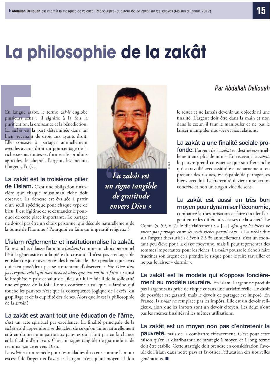 Article sur la Zakat