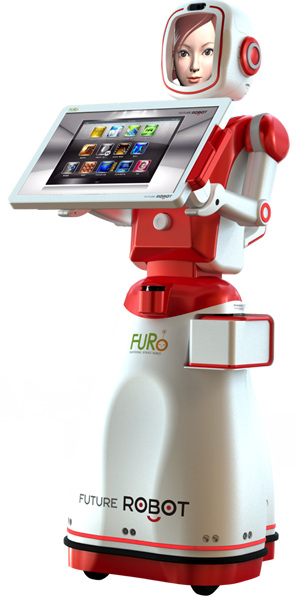 FURO, the FUture RObot avec un smiley pour faire passer.