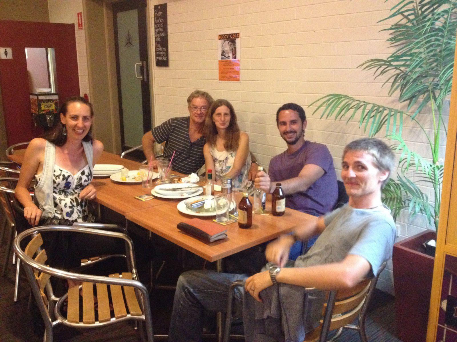 Dinner with Rachel's family