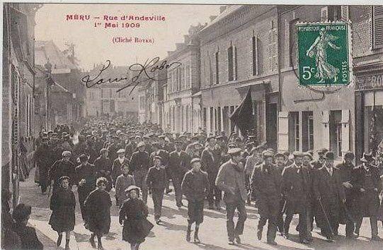 Un premier Mai historique à méru en 1909