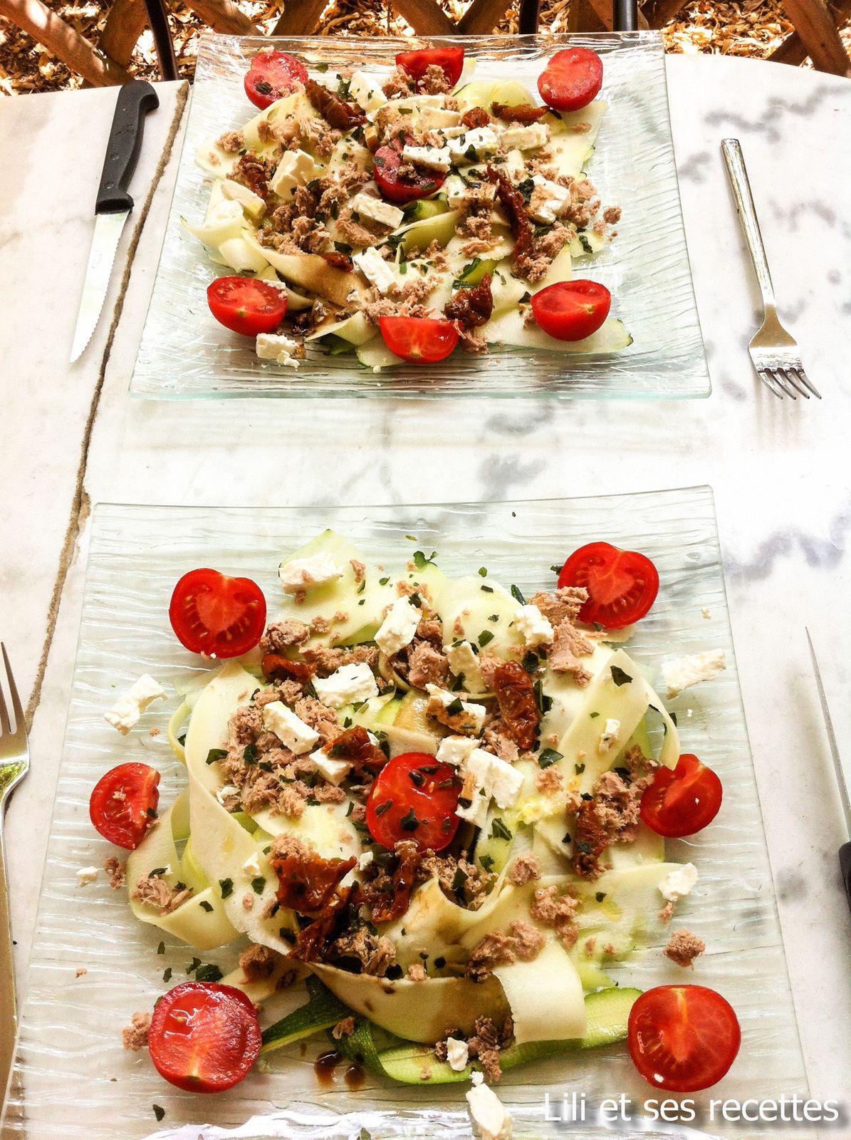 Salade de tagliatelle de courgettes