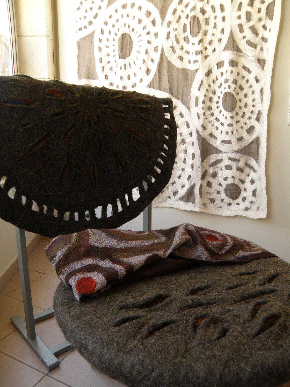 des ateliers laines feutrée avec Margriet à l'Atelier de Lola