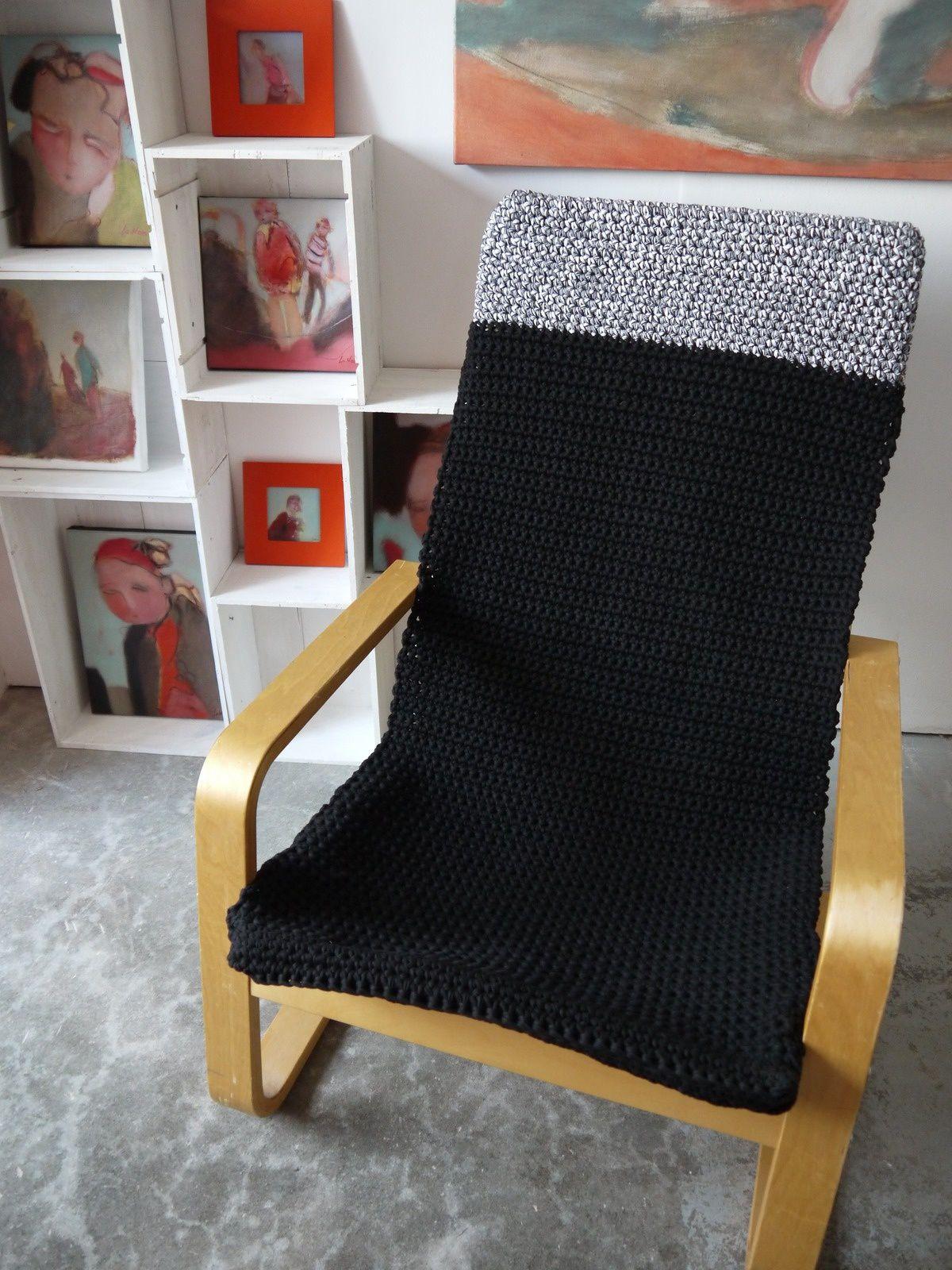 Housse de fauteuil en hoooked et big ribbon le blog de l for Housse de fauteuil bergere