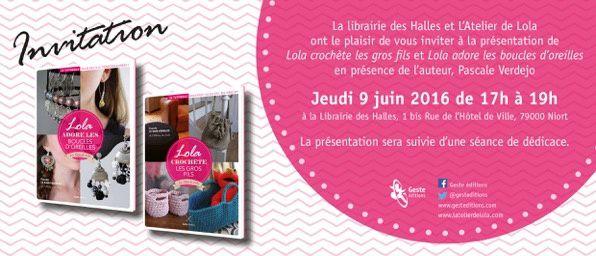 Lola crochète les gros fils chez Geste Editions, pour droitières et gauchères !