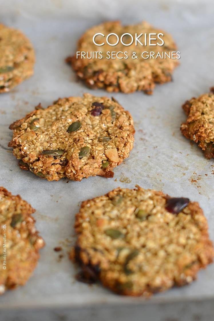 Cookies aux graines gourmandes et flocons d'avoine
