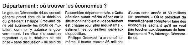 Ouest France - 19/03/2014