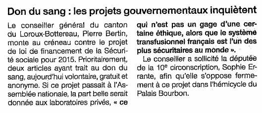 Ouest France - 19/11/2014