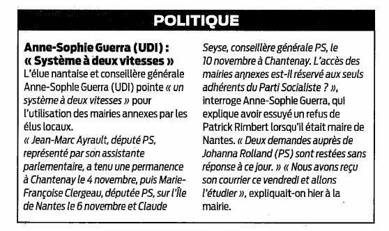 Presse Océan - 15/11/2014