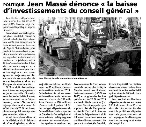 L'Eclaireur du Pays de Châteaubriant - 28/11/2014