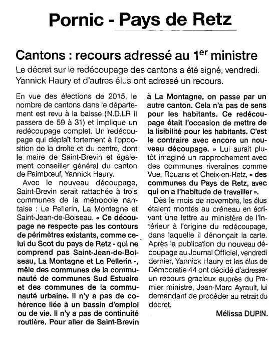 Ouest France - 05-03-2014