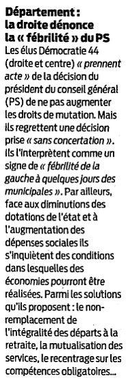 Presse Océan - 18/03/2014