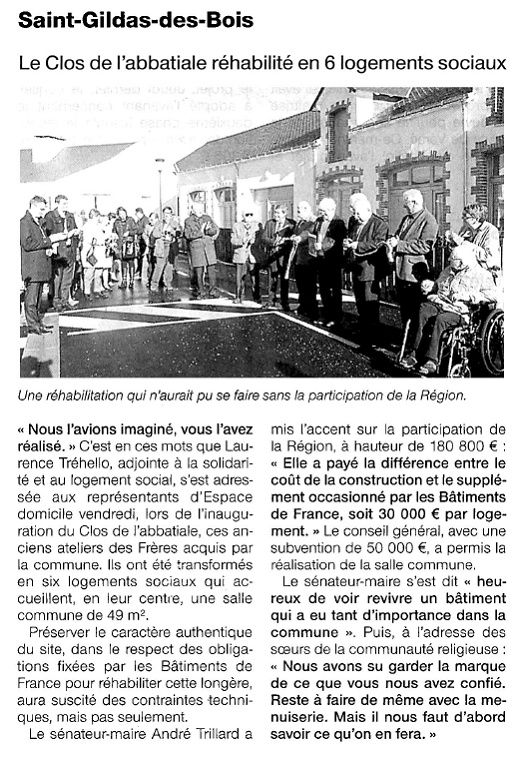 Ouest France - 17/11/2014