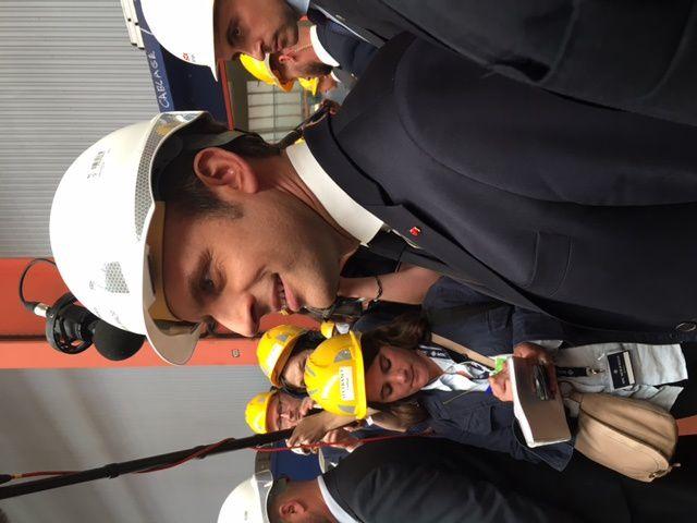 Avec le Président Macron à St Nazaire chez STX - 31 mai