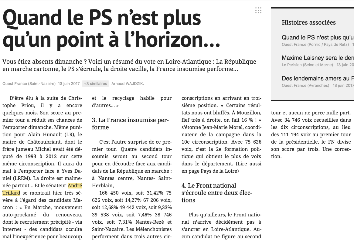 Reprise Ouest France : &quot&#x3B;Quand le PS n'est plus qu'un point à l'horizon&quot&#x3B;