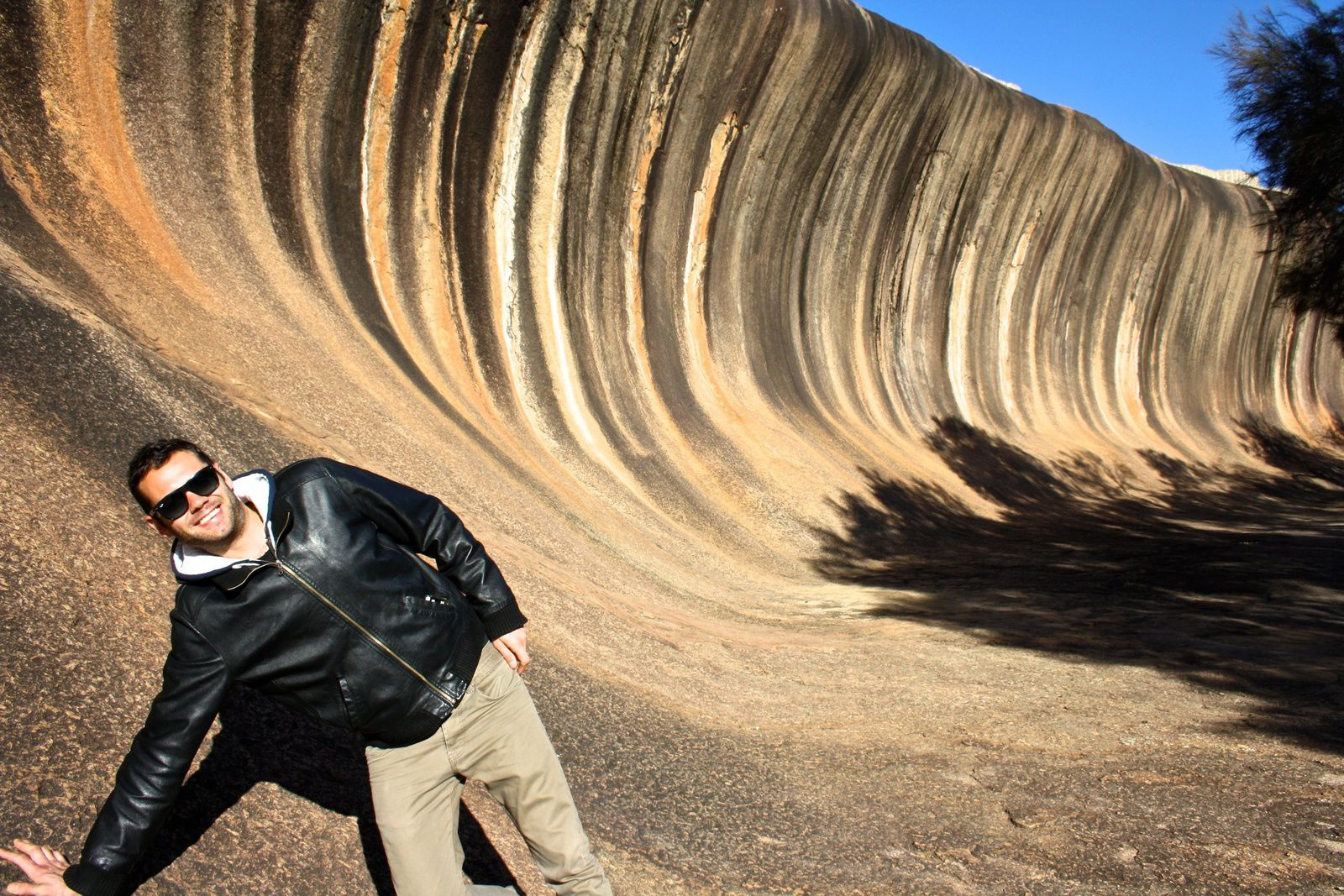 On the road to the Wave Rock ...
