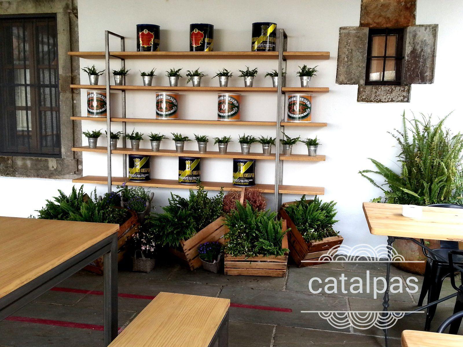 Vista general terraza Cenador de Amós - Catalpas Centro de Jardinería