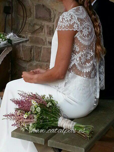 #boda de #catalpas #ramodenovia vestido de #lauredesagazan