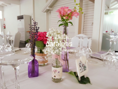 Decoración #mesas #catalpas