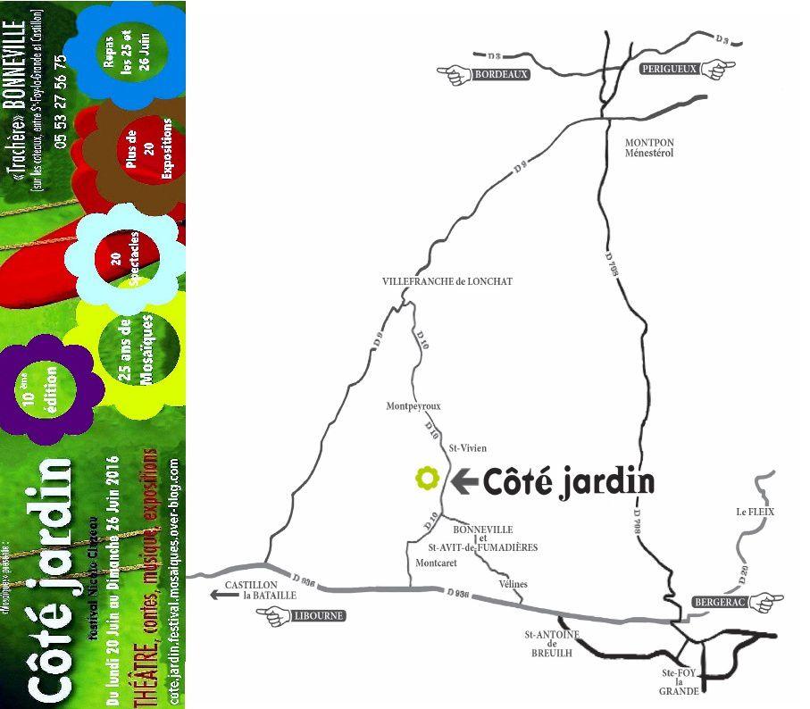 """En avant-première, """"Mosaïques"""" vous livre le dépliant du festival Côté Jardin 2016 !"""