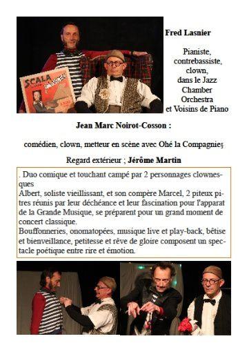 CONCERTOC de Ohé la compagnie ! Nouveau spectacle de Frad Lasnier et Jean-Marc Noirot-Cosson