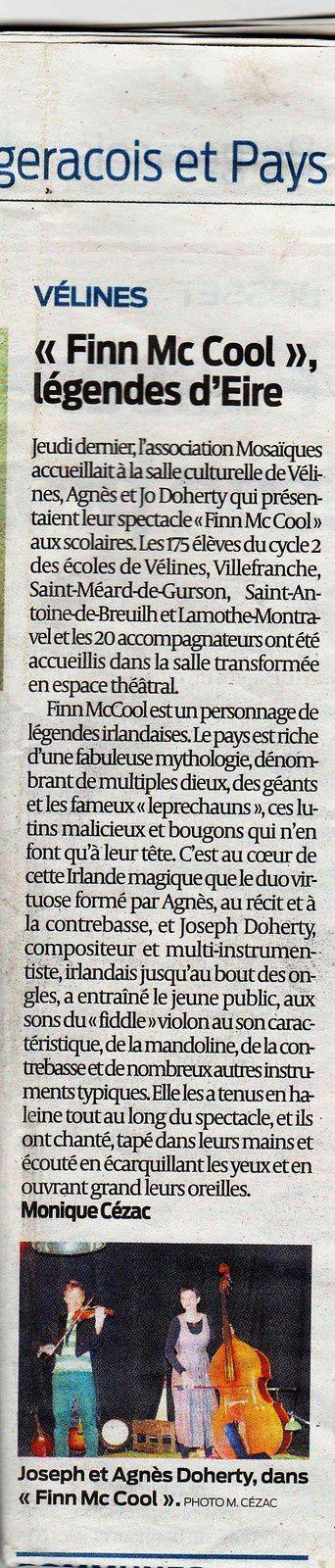 Retour du  Résistant et de SudOuest Monique Cézac et Christian Cluzeau