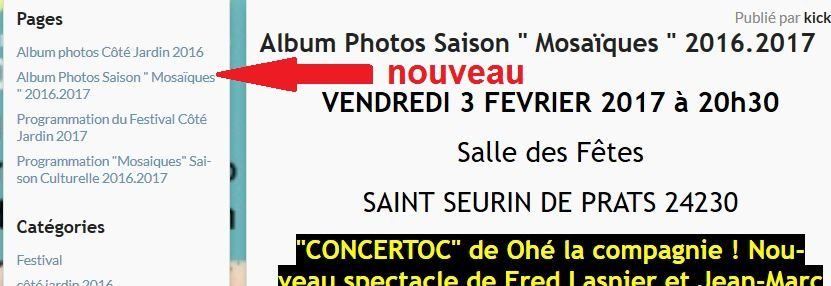 Album Photos Saison &quot&#x3B; Mosaïques &quot&#x3B; 2016.2017