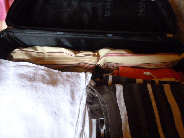 petits sacs à chaussures pour valise très simples..